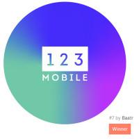123 mobile (конкурс на 99 design, 1 место)