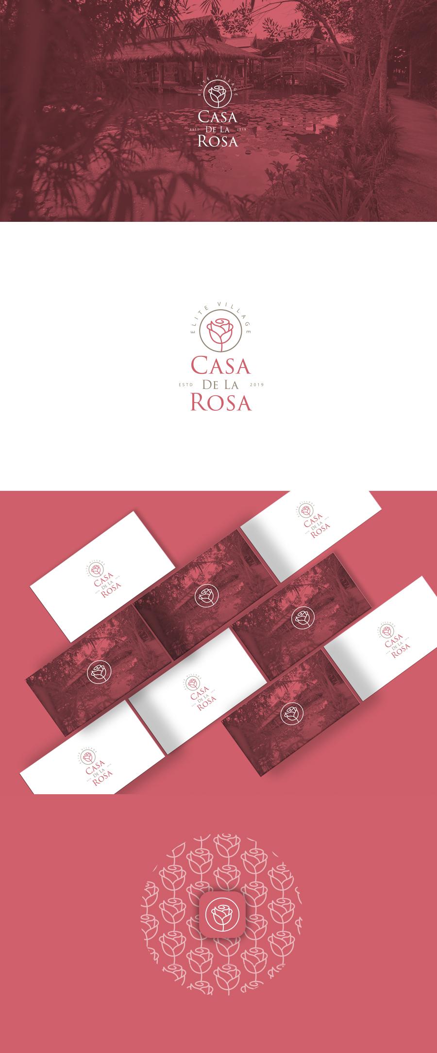 Логотип + Фирменный знак для элитного поселка Casa De La Rosa фото f_3185cd92fba378d1.jpg