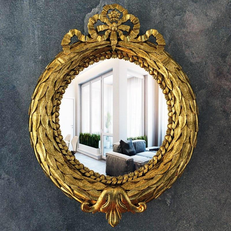 Зеркало с орнаментом №2