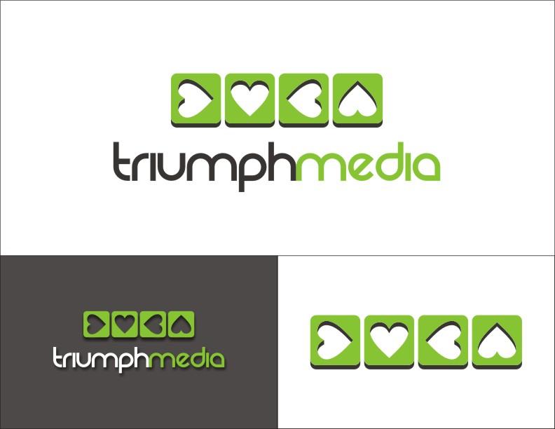 Разработка логотипа  TRIUMPH MEDIA с изображением клевера фото f_50733cc91b27c.jpg