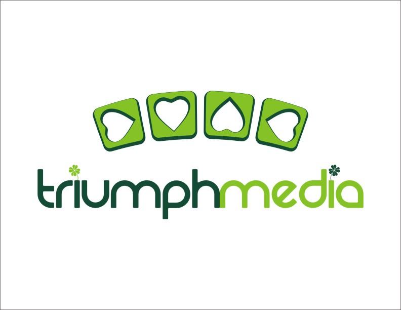 Разработка логотипа  TRIUMPH MEDIA с изображением клевера фото f_5077c3d0128bd.jpg