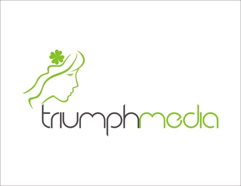 Разработка логотипа  TRIUMPH MEDIA с изображением клевера фото f_50785cb8de958.jpg