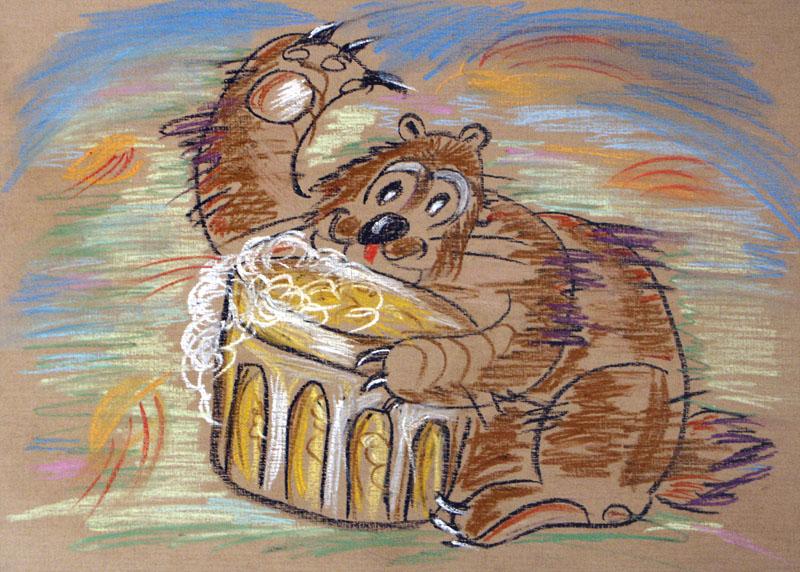 Медвед с кружкой пива