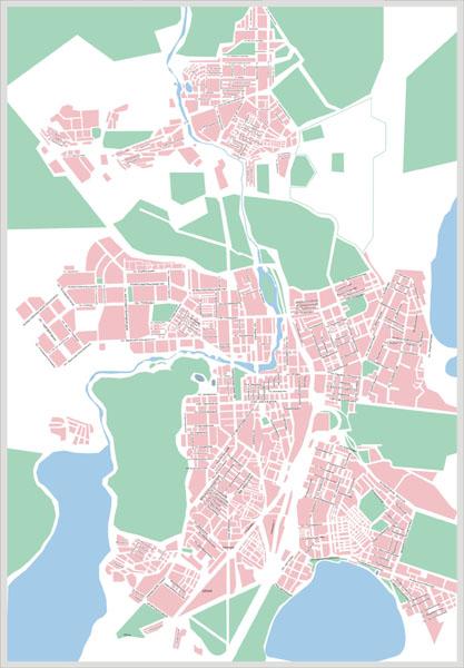 Карта Челябинска