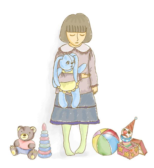 Девочка с зайкой