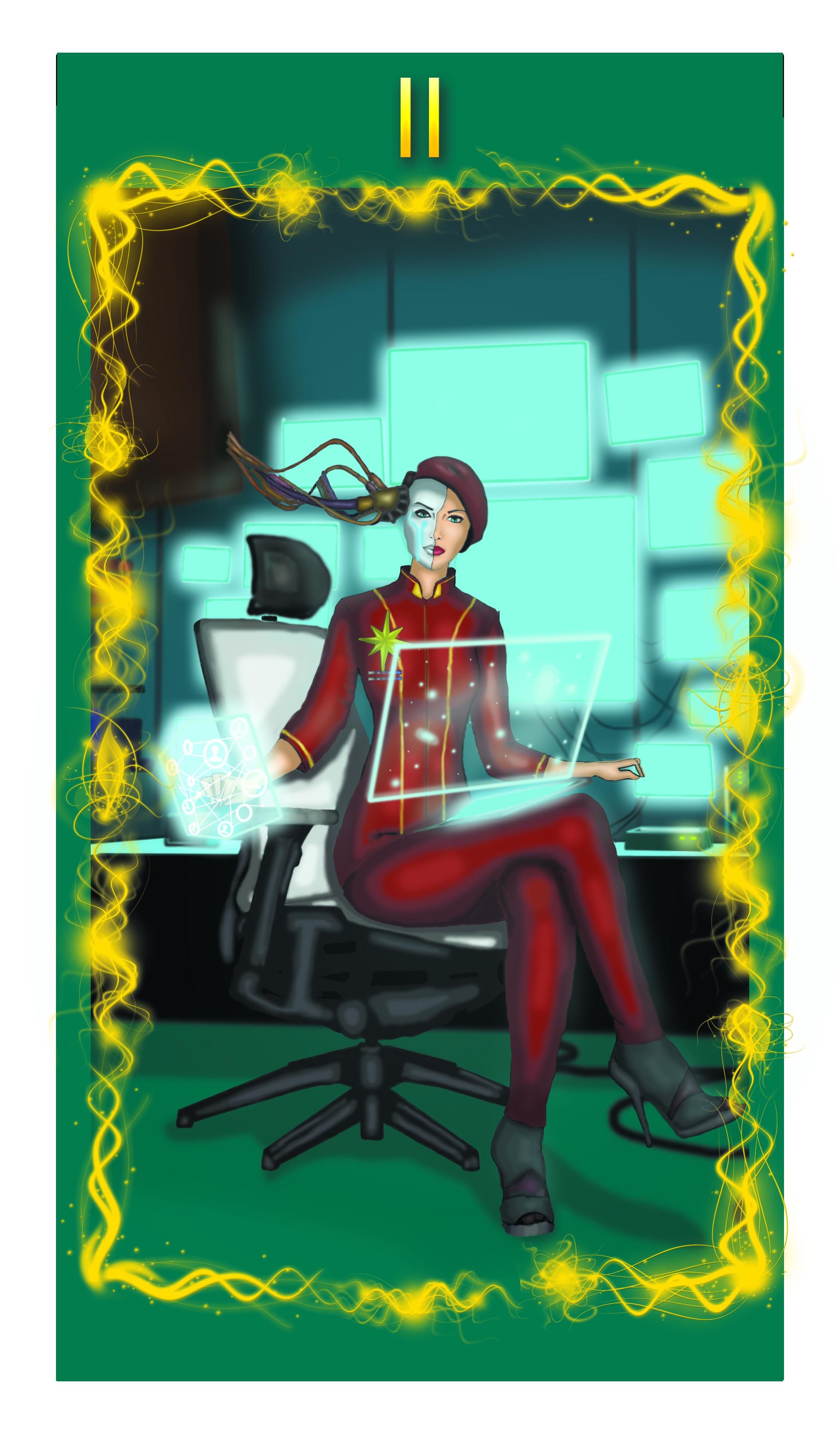 Ищем художника для создания колоды Таро в стиле киберпанк фото f_93758fb5913e577b.jpg