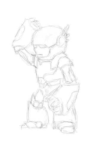 "Модель Робота - Ребёнка ""Роботёнок"" фото f_4b47a12e0fae4.jpg"