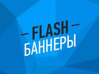Flash баннер премиум класса