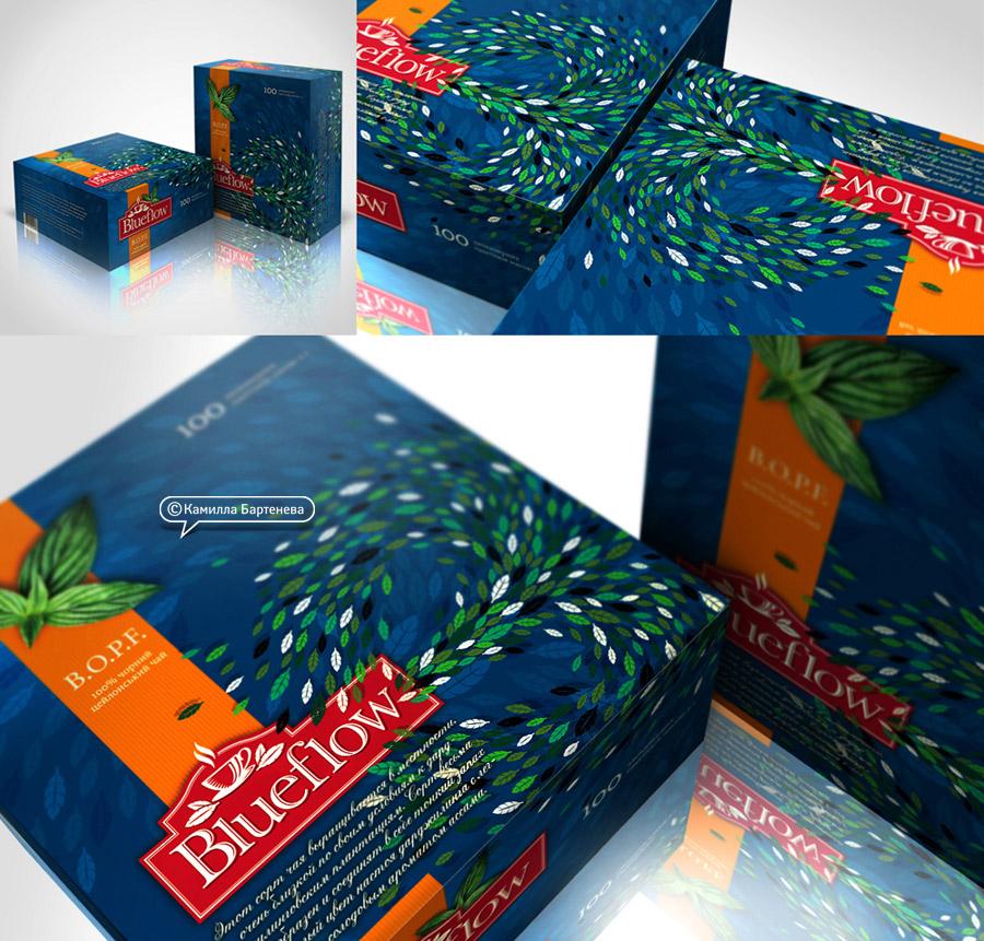 TM и упаковка чая BlueFlow