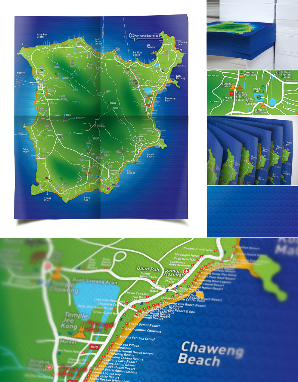 Карта острова Самуи, Таиланд