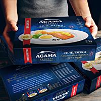 ТМ и упаковка серии готовых блюд из рыбы Agama Gourmet