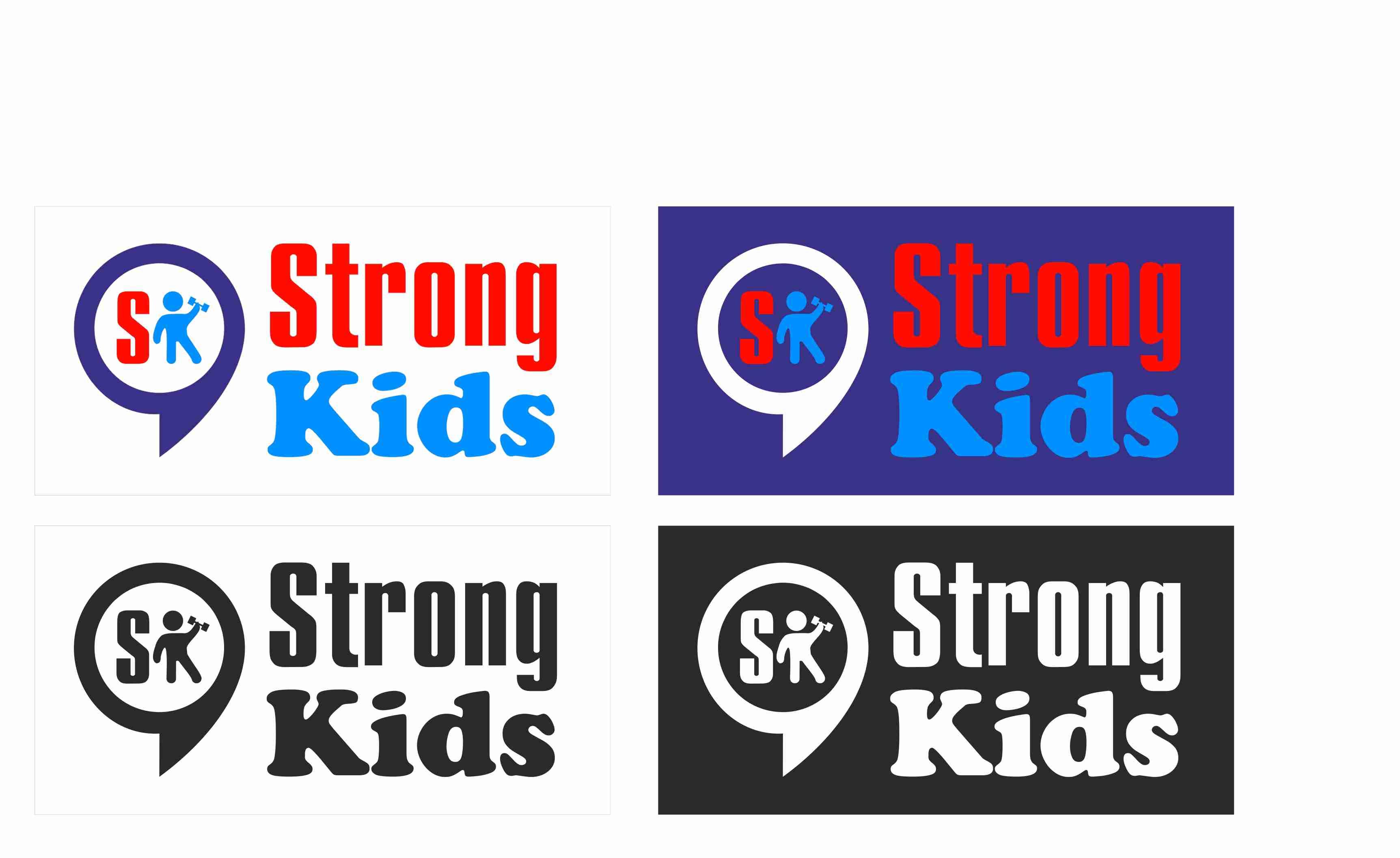 Логотип для Детского Интернет Магазина StrongKids фото f_3495c85742775161.jpg