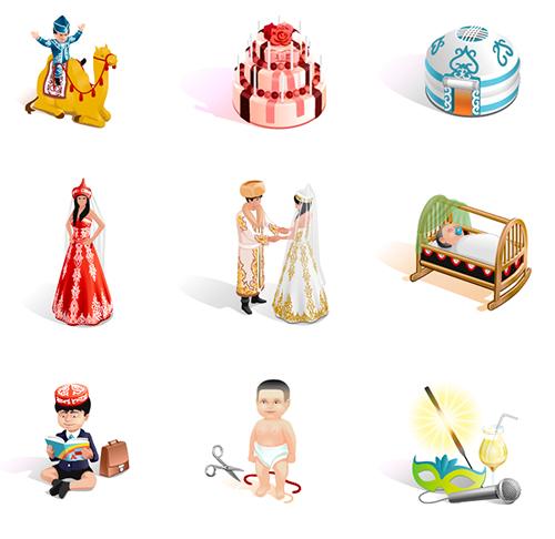 Векторные иконки на тему (Adobe illustrator)