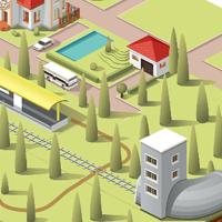 Простая анимация поезда