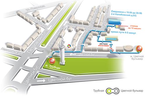 для INTITLE схема проезда до 2-Колобовский (Adobe illustrator)