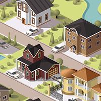 cottages (Adobe illustrator)