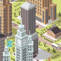 vector buildings (Adobe illustrator)