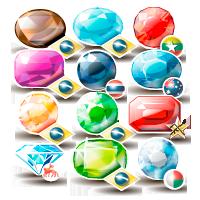 Векторные Иконки драг. камней (Adobe illustrator)