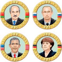 Векторные Иконки монетки для игры (Adobe illustrator)