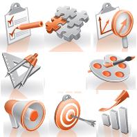 Векторные Иконки для рекл. сайта (Adobe illustrator)