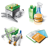 Векторные Иконки для автосайта (Adobe illustrator)