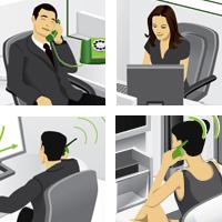 схема подключения в офисе (Adobe illustrator)