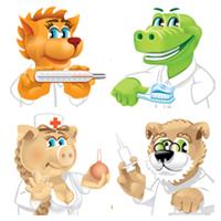 персонажи зверьки (Adobe illustrator)