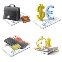 Векторные Иконки для сайта банка (Adobe illustrator)