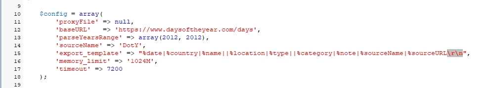 DaysOfTheYear.com: Парсер для сервиса праздников / Парсинг, PHP, Simple HTML DOM