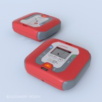 Defibrillator Portable_red_cover_Working_Project_2009