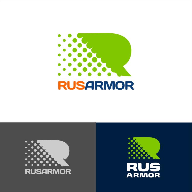 Разработка логотипа технологического стартапа РУСАРМОР фото f_8445a0f45a2eb463.png