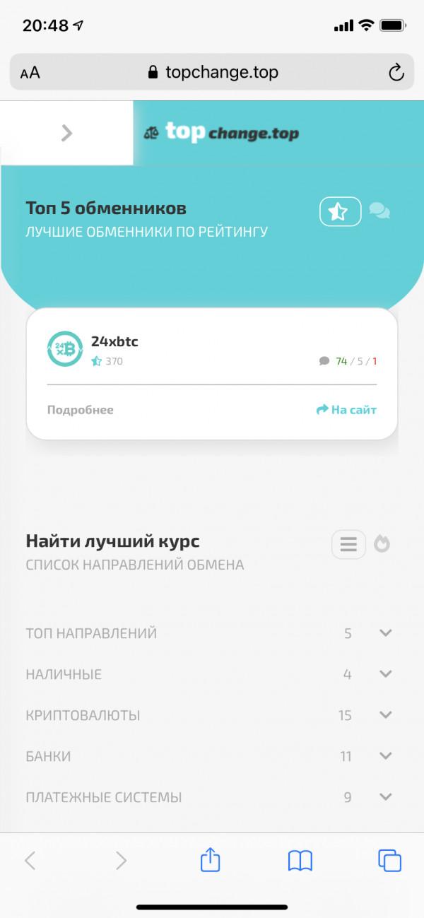 Обменник валют - сайт на yii2