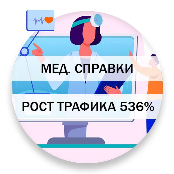 Рост трафика из поисковой выдачи - 536%