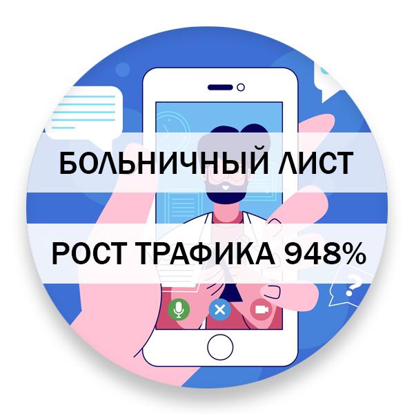 Рост трафика из поисковой выдачи - 948%