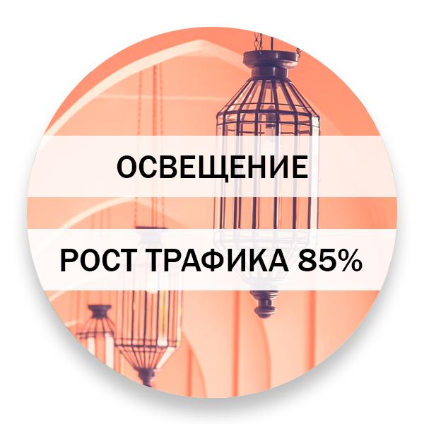 Рост трафика из поисковой выдачи - 85%