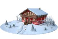Домик утепление - иллюстрация к сайту.