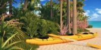 Пляж и лодка