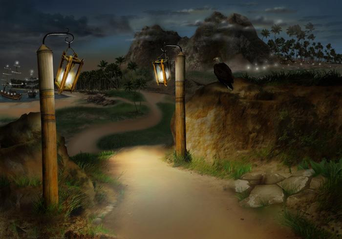Иллюстрация на главную, ночь
