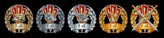 5 степеней награды