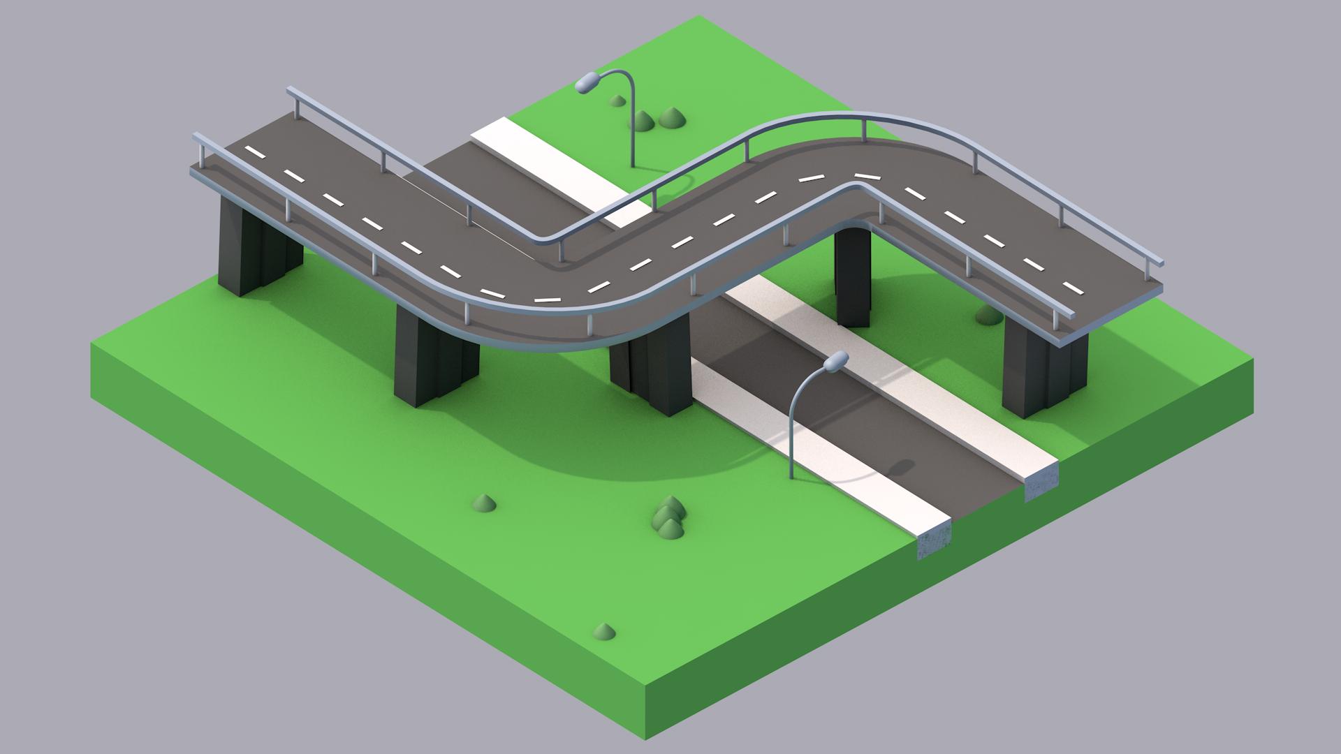 Мостовая Low Poly