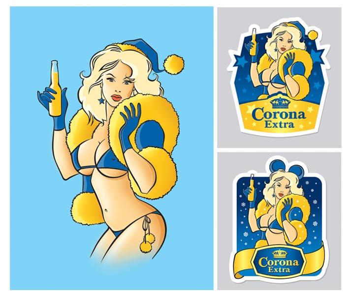 снегурочка для пива Corona