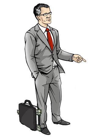 персонаж для сайта. русский бизнесмен
