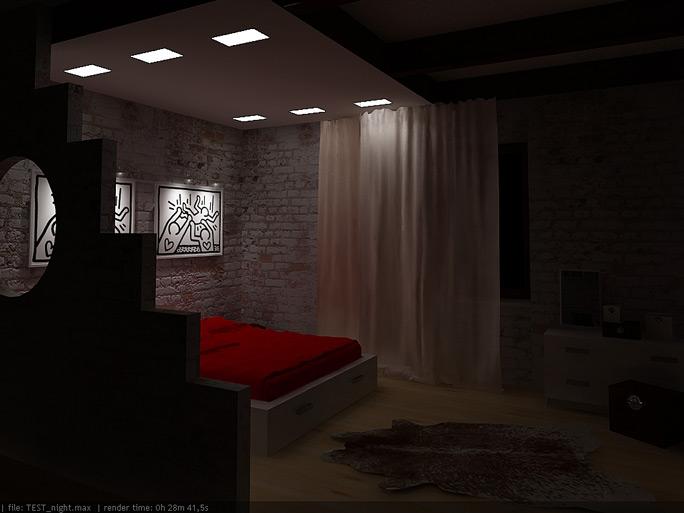 спальня Д+В (ночь)