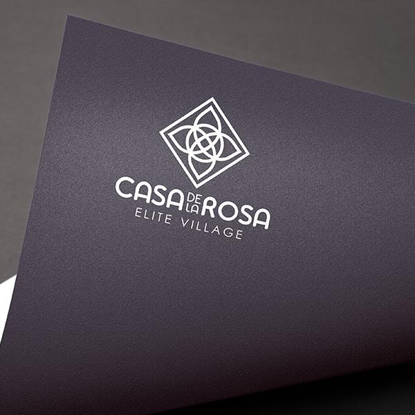 Логотип + Фирменный знак для элитного поселка Casa De La Rosa фото f_0255cd542b0407f5.jpg
