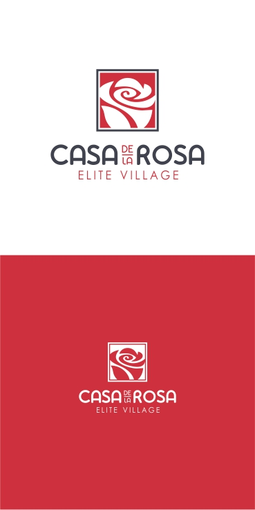 Логотип + Фирменный знак для элитного поселка Casa De La Rosa фото f_6895cd810de9c2e2.jpg
