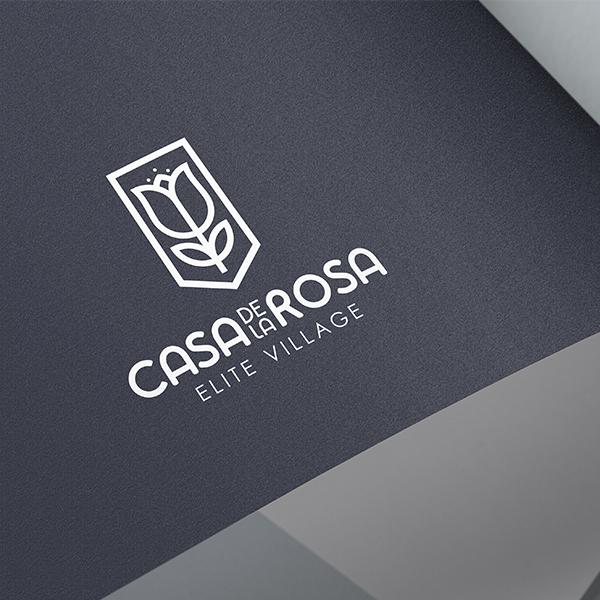 Логотип + Фирменный знак для элитного поселка Casa De La Rosa фото f_8145cd542996cba6.jpg