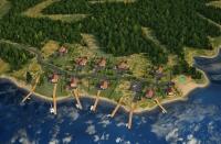 Эскиз поселка с высоты