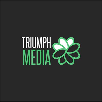 Разработка логотипа  TRIUMPH MEDIA с изображением клевера фото f_506f85dbd62e6.png