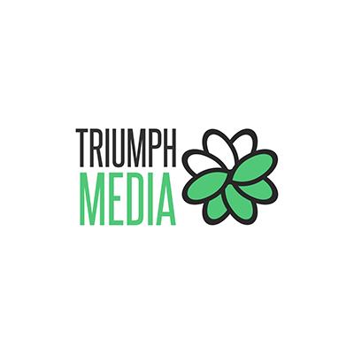 Разработка логотипа  TRIUMPH MEDIA с изображением клевера фото f_506f85df6b441.png