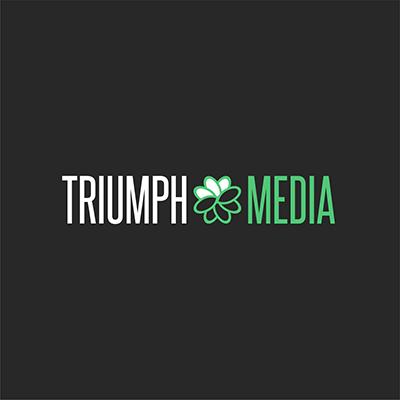 Разработка логотипа  TRIUMPH MEDIA с изображением клевера фото f_506f85e61a466.png
